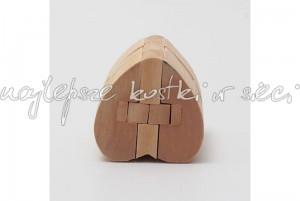 Heart Lock wooden puzzle
