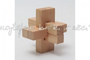 Six Connection wooden puzzle