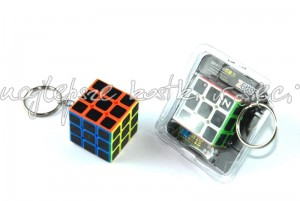Z-Cube 3x3x3 keyrings color with carbon fibre stickers