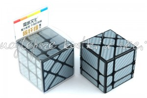MoYu MoFangJiaoShi Unequal Fisher Cube Carbon Fiber silver