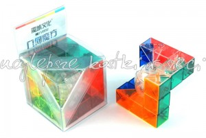 MoYu MoFangJiaoShi Geo Cube A transparent color