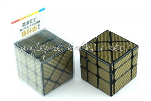 MoFangJiaoShi Unequal Fisher Cube Carbon Fiber golden